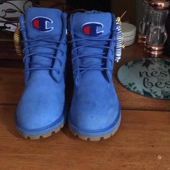 timberland champion blue boots